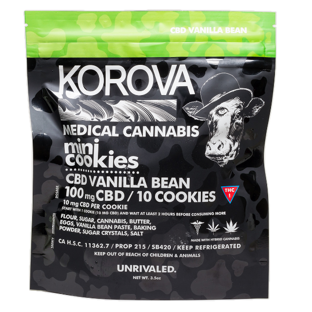 KOROVA  MINI PURE CBD SUGAR COOKIES 100MG
